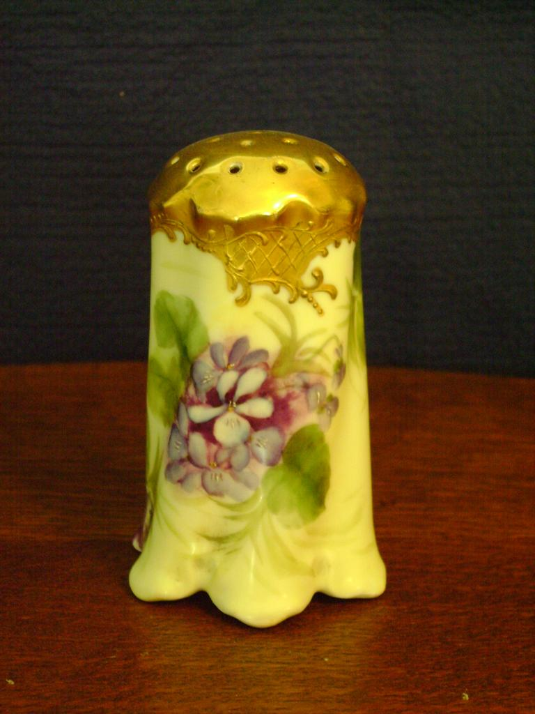 Beautiful Vintage Sugar Shaker with Violets