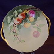 SALE Vintage Limoges Handpainted Cake Plate with Cherries