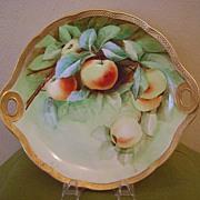 SALE Beautiful Ginori Handled plate with Cherries