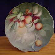 SALE Vintage Limoges Handpainted Plate Decorated with Cherries