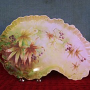 Vintage Handpainted Tray with Blueberries