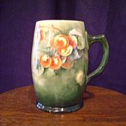 SALE Antique Belleek Tankard Mug with Cherries