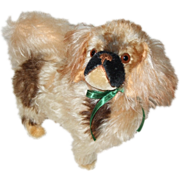 Beautiful Eduard Cramer Tipped Mohair Pekingese Dog