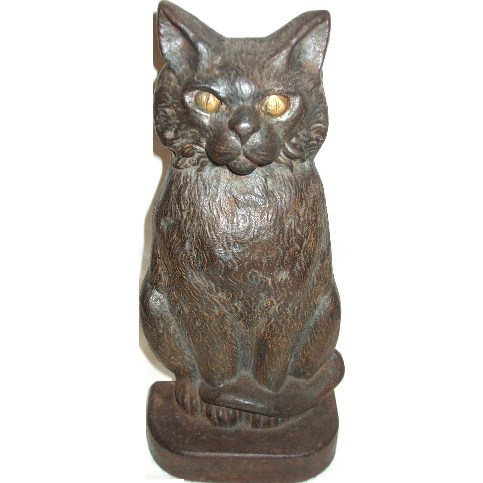 Aa 000210 - Cast iron cat doorstop ...