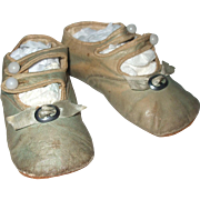 Great Little Baby Doll Shoes Sage Green Double Strap