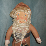 SALE Sweet Old Pot Bellied Santa Claus Rag Doll