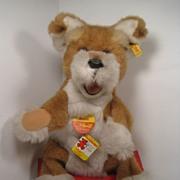 SALE Large Steiff Plush Dog Hand Puppet