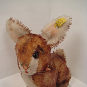 Steiff Ossi Brown Tipped Mohair Rabbit With Two ID