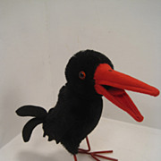 SOLD Steiff's Largest and Earliest Post War Hucky Raven