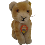Steiff's Smallest Sitting Young Lion With All IDs
