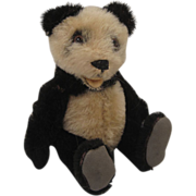 SOLD Steiff's Smallest Fully Jointed Panda AS CUTE AS A BUTTON!