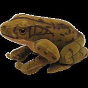 SALE Steiff's Velvet Froggy Frog With ID