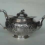 Absolutely superb rare Irish sterling teapot c. 1821
