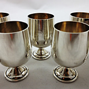 Set of 8 sterling silver goblets or cordials made for George Jensen