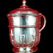 English sterling silver mustard bowl