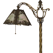 Lovely Ornate Slag Glass Floor Lamp
