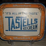 REDUCED Circa 1920's Tastells Ice Cream Advertising Tray St. Joseph, Mo.