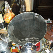 SALE 1940's Munsingwear Advertising Counter Mirror from Department Store