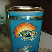 Sunbrite Mixed Filled Confections Candy Tin ca 1940's