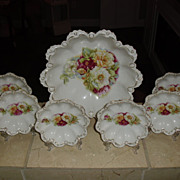 SALE 7 piece Germany Berry Bowl Set ~ Lovely Floral Motif