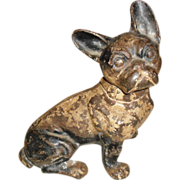 Cast Iron French Bull Dog Doorstop Hubley Design #304