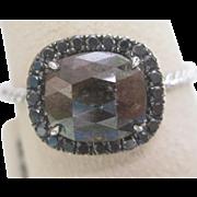 Natural Orange Brown 1.64 Carat Diamond Ring in 14K White Gold