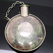 Rare American Indian Silver Tobacco Flask