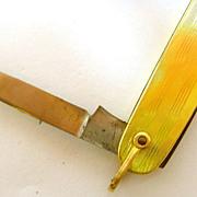 Gold Pocket Knife
