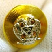 14K Gold 32nd Degree Enamel Masonic Eagle Lapel Pin