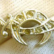 14K Gold Crystal Shriners Masonic Scimitar Pin