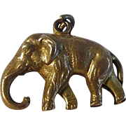 Gilt Brass Elephant Charm Paris Exposition 1900