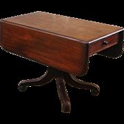 Antique Drop Leaf Dining Table, English, Mahogany.