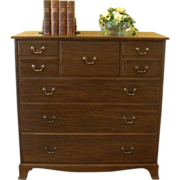 REDUCED Antique 'Warings' Large Chest of Drawers, Dresser, English, Mahogany.