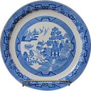 Antique Blue Willow Plate, Minton, England C.1882