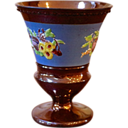 Antique English Copper Luster Goblet