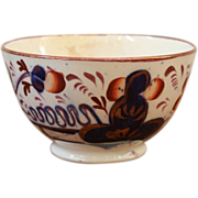 Antique Porcelain Sugar Bowl, Gaudy Welsh, Oyster Pattern, 19th Century.