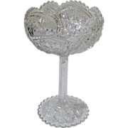 Antique Early American Pressed Glass Footed Compote.