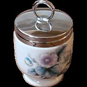 Vintage English Porcelain Egg Coddler, Royal Worcester, C.1960.