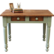 Antique Pine Desk. Painted, Primitive, Rustic, American, Late 1800's