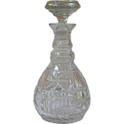 REDUCED Antique Early American Cut Crystal Decanter.
