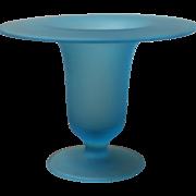 SOLD Vintage Blue Art Glass Vase.