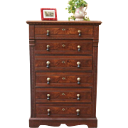Antique Eastlake Style Chest of Drawer, Walnut, American C.1880.