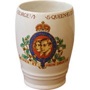 Vintage Coronation Beaker, Mug, Cup, King George and Queen Elizabeth. 1937.