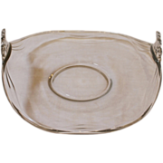 Vintage Fostoria Glass Muffin Tray Plate. Coronet Pattern C.1940.