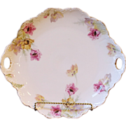 Antique Porcelain Cake Plate, Rosenthal, Bavaria, Malmaison.
