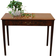 Antique Console Table, Mahogany, Drop Leaf. C.1900