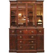 REDUCED Vintage Breakfront China Cabinet, Mahogany, American, C1930