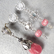 Isabella Longs For Love Set Rhodochrosite Silver Medieval Style