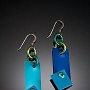 Anodized Aluminum Rectangle Rivet Earrings