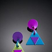 Anodized Aluminum Triangle Post Earrings